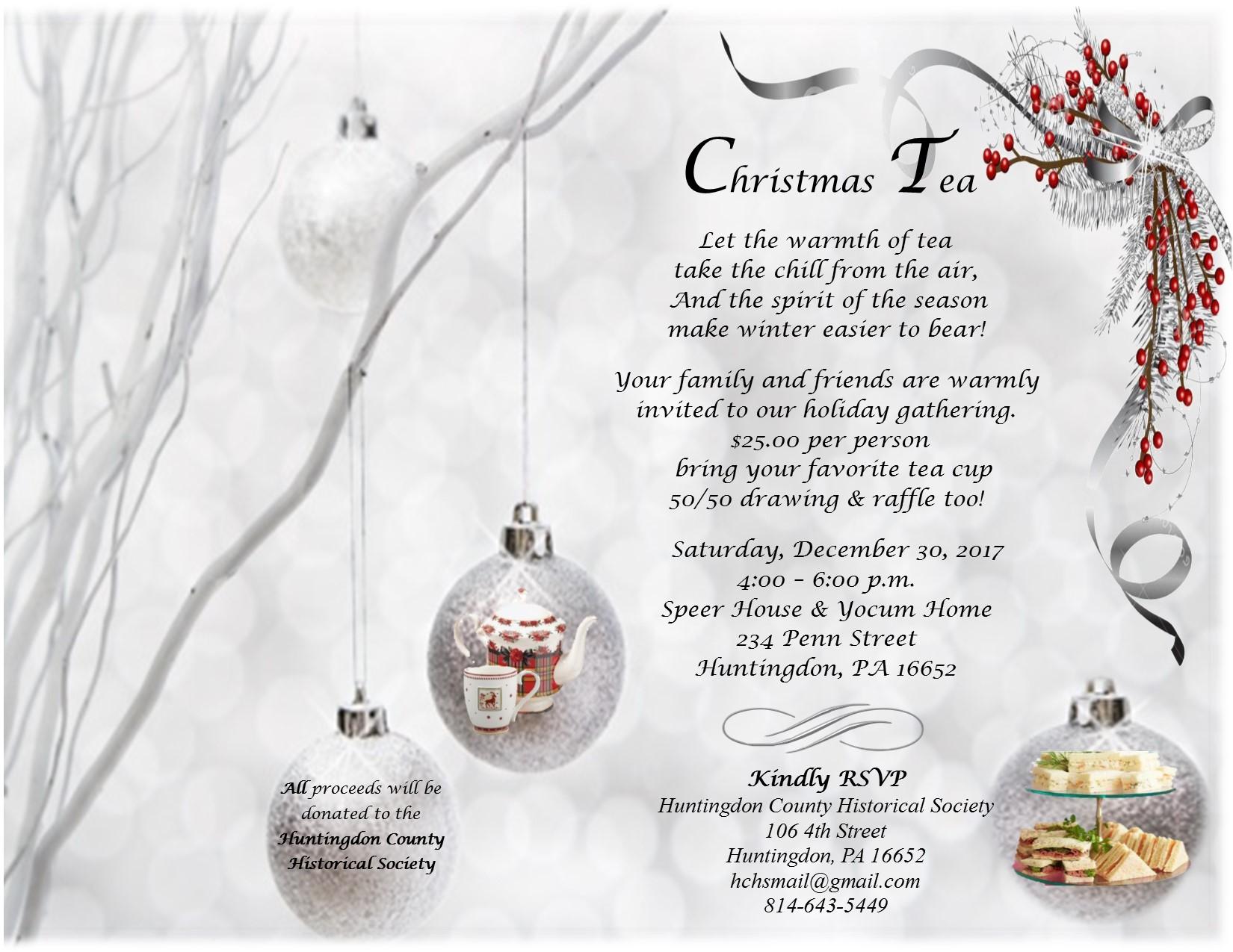 A Christmas Tea: 234 Penn Street – Huntingdon County Historical Society